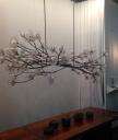 Hanging flower sculpture