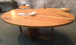 Walnut table, $8,600